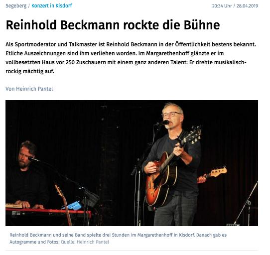Segeberger Zeitung / Kieler Nachrichten vom 28.04.2019