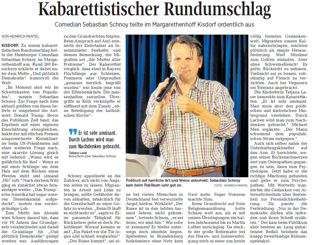 Segeberger Zeitung / Kieler Nachrichten vom 17.06.2019